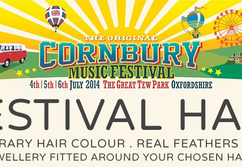 Festival Hair by Tabitha James Kraan at Cornbury Music Festival 2014 * Tabitha JK