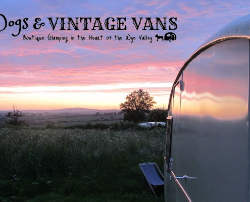 Autumn Sunset Glamping Site Mad Dogs & Vinatge Vans