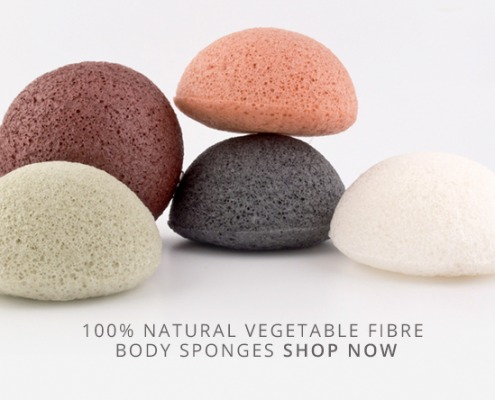 The original Konjac Sponges made from 100% natural vegetable fibre