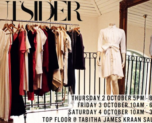 Outsider Fashion pop-up shop at Tabitha James Kraan