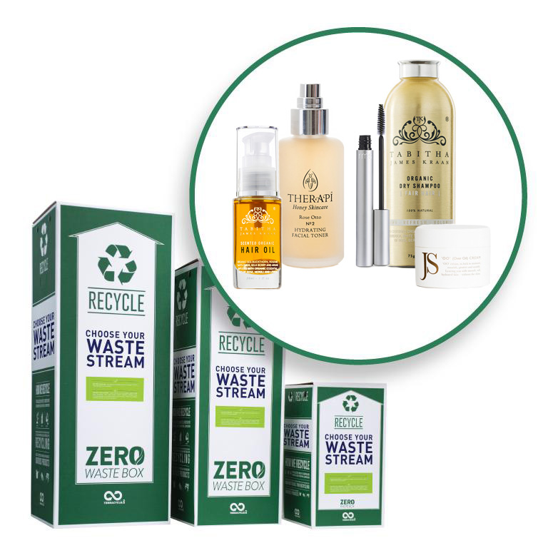 Beauty products bought in the TJK salon are being recycled with TerraCycle